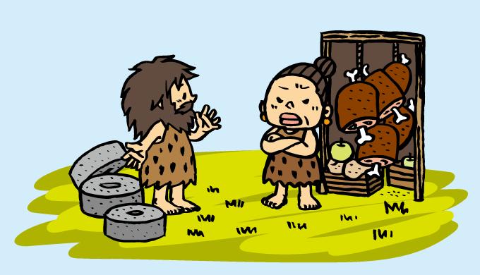 古代文明の人が生活する様子を表す画像