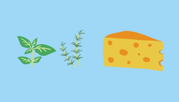 ハーブとチーズの画像