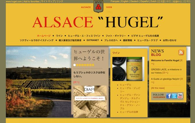 HUGELの公式ホームページの画像