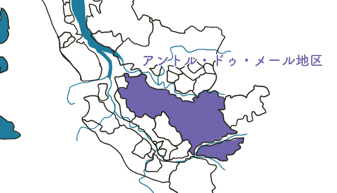 アントル・ドゥ・メール地区の図解
